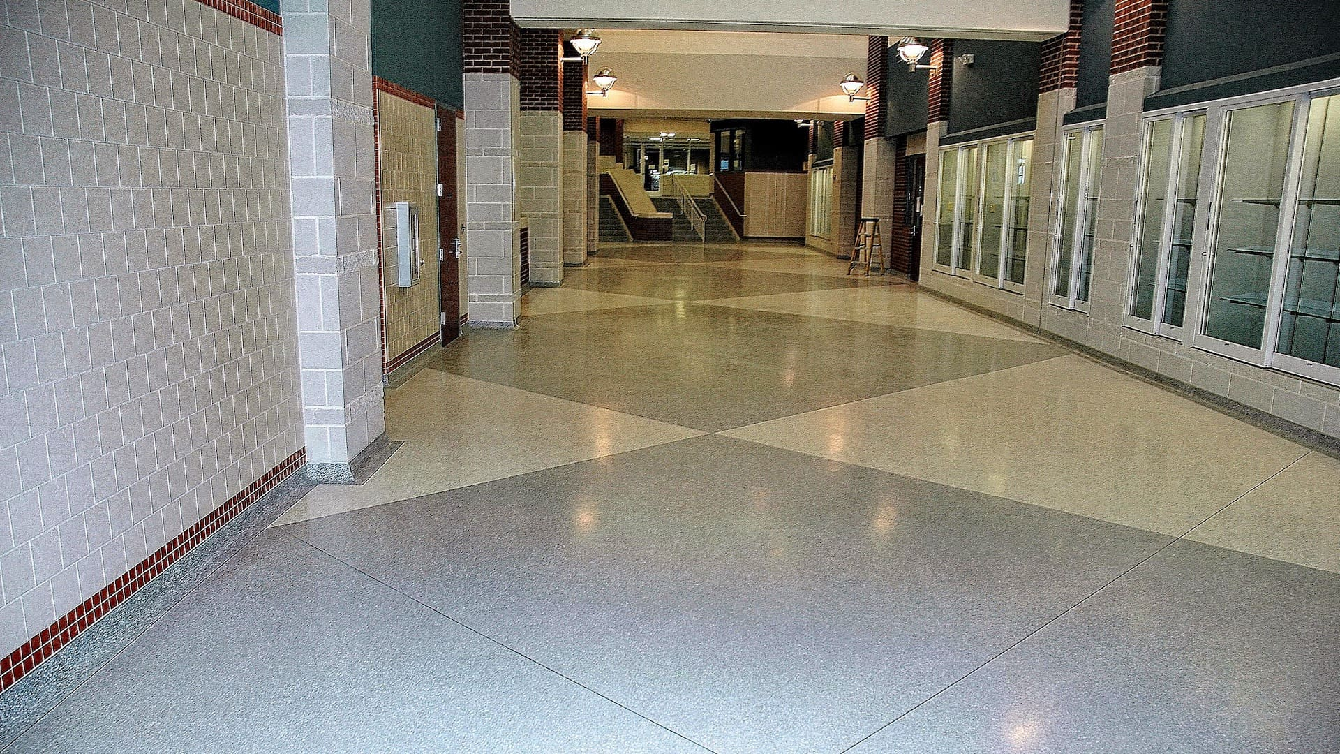 Terrazzo Flooring and Staircases at a Newly Constructed High School