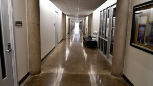 Polished Concrete Floor at Texas Christian University School of Art