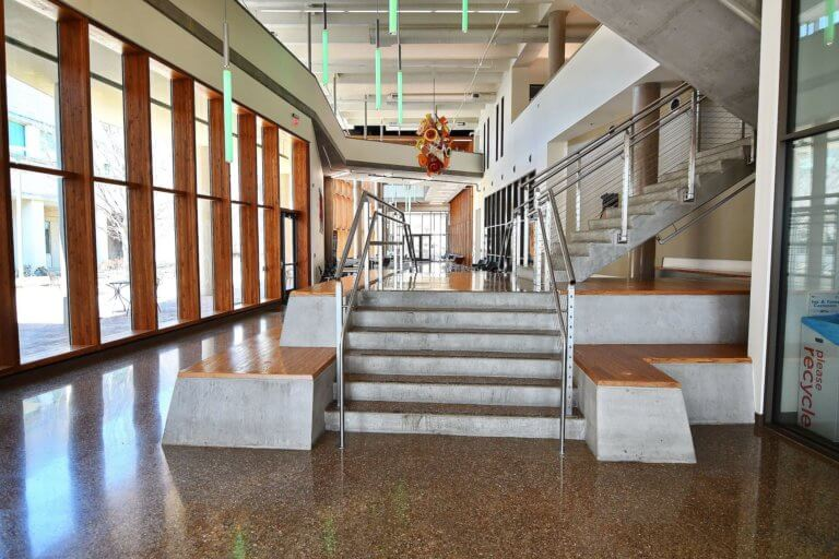 Terrazzo Flooring at UTD Naveen Jindal School of Management