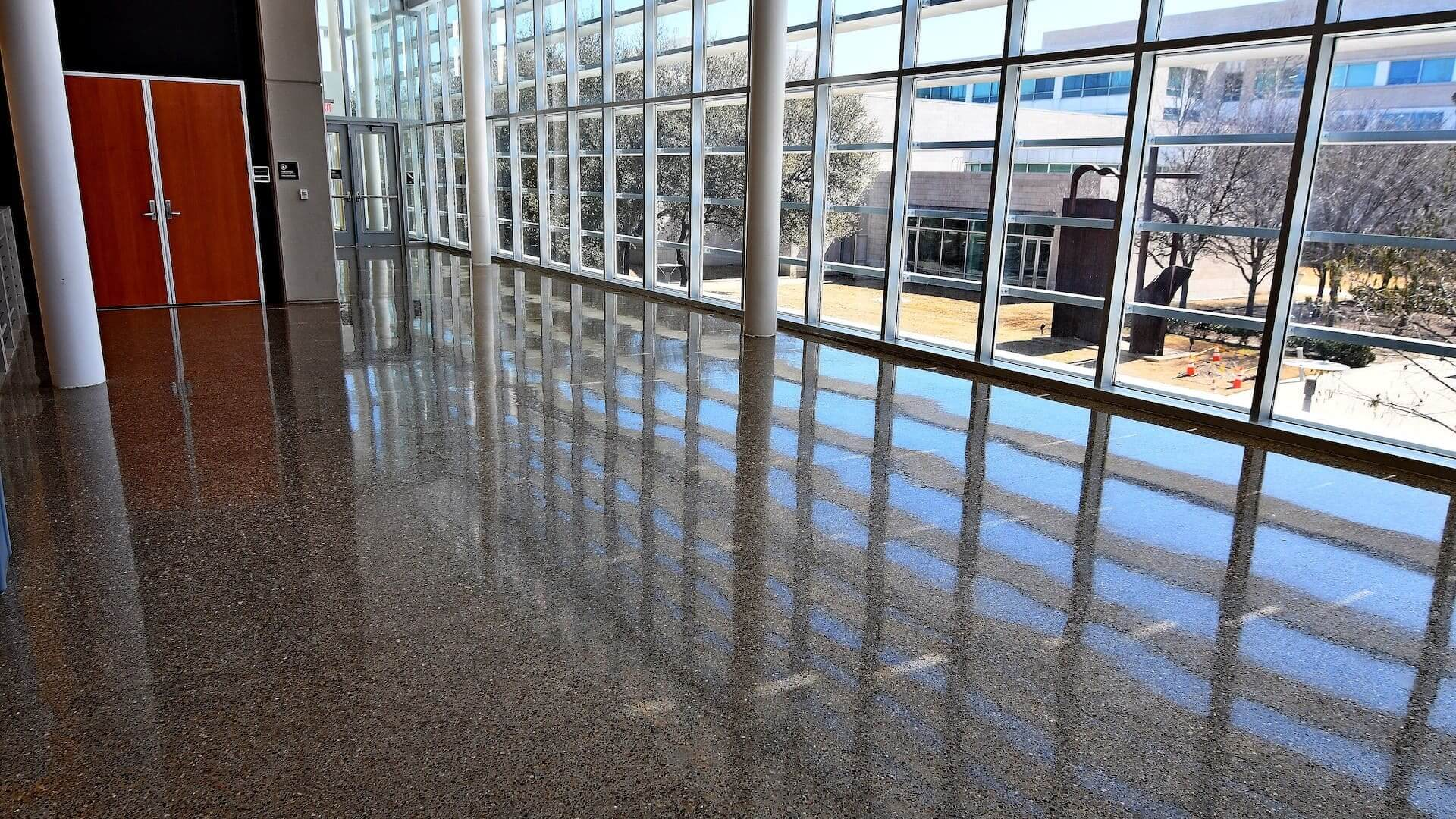 UTD Edith O'Donnell Arts and Technology Terrazzo Floor
