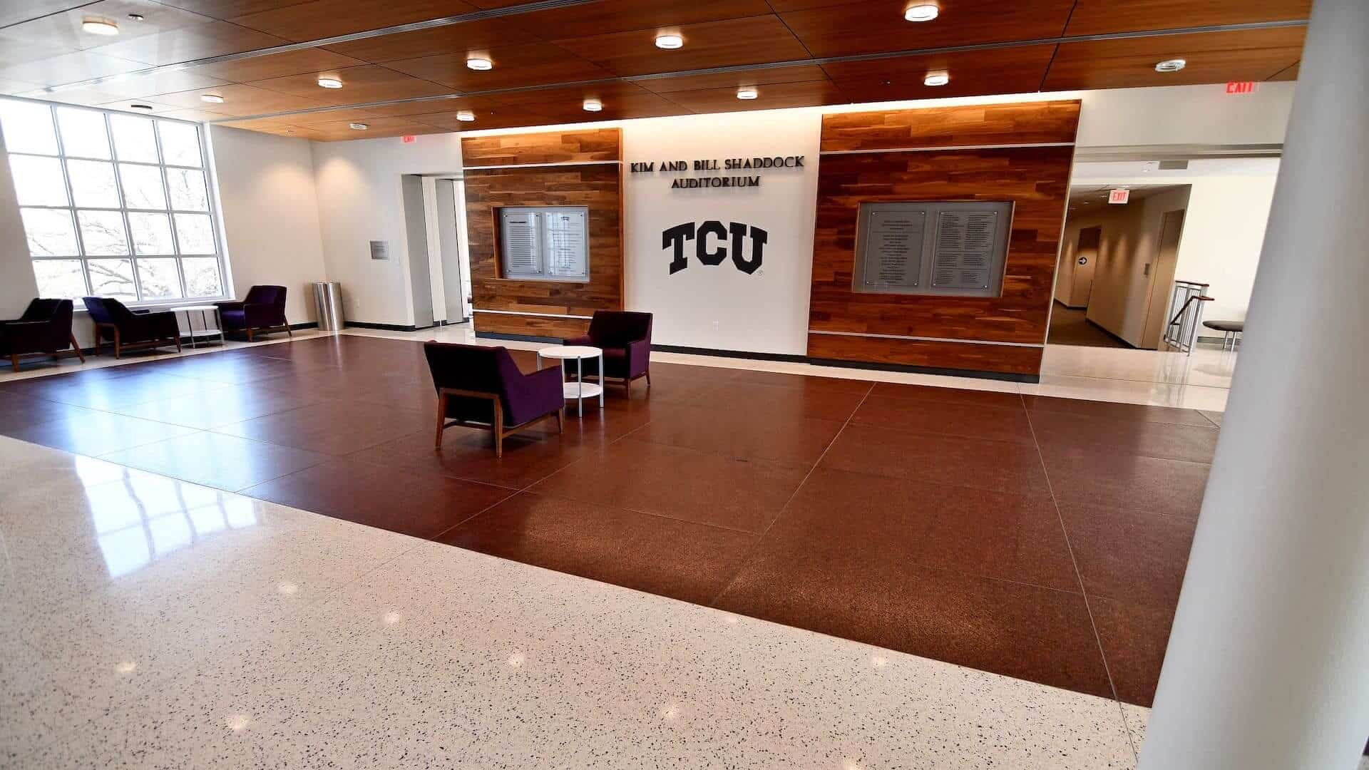 Epoxy Terrazzo Flooring - Luxurious and Sustainable Flooring at the Kim and Bill Shaddock Auditorium