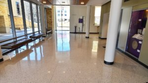 Epoxy Terrazzo Flooring at Shaddock Auditorium, TCU Neely School of Business