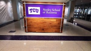 Terrazzo Flooring at TCU Neeley School of Business Entrance