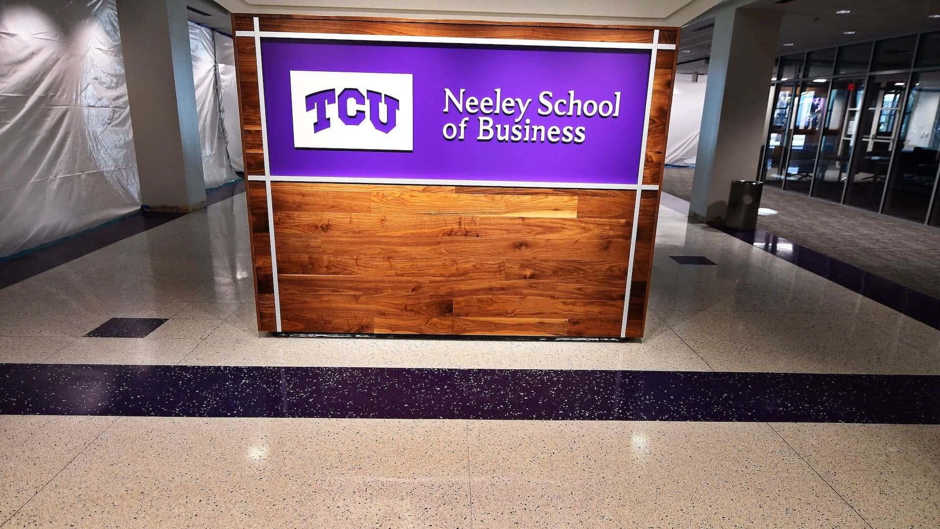 Terrazzo Flooring at TCU Neeley School of Business Entrance