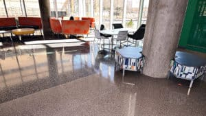 Durable, Functional and Environmentally Friendly Terrazzo at UTD Engineering & Computer Science West