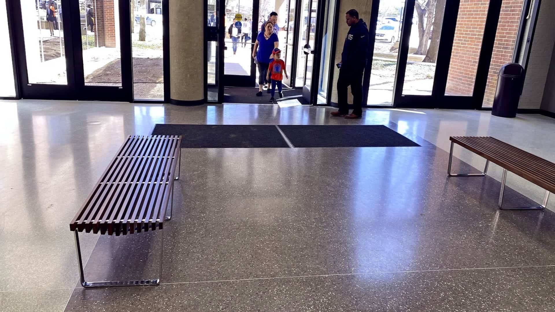 Durable and Appealing Terrazzo at the Dallas County North Building