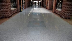 Durable Low Maintenance Terrazzo at a Busy School